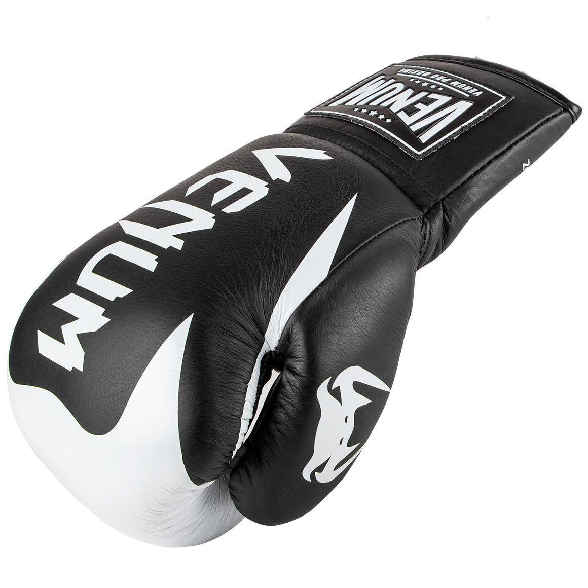 Боксерские перчатки Venum Hammer Pro - Со шнуровкой - Черный/Белый - Black/White