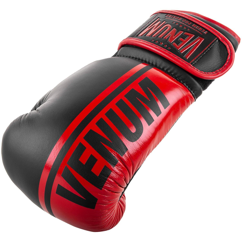 Боксерские перчатки Venum Shield Pro - С липучкой - Черный/Красный - Black/Red