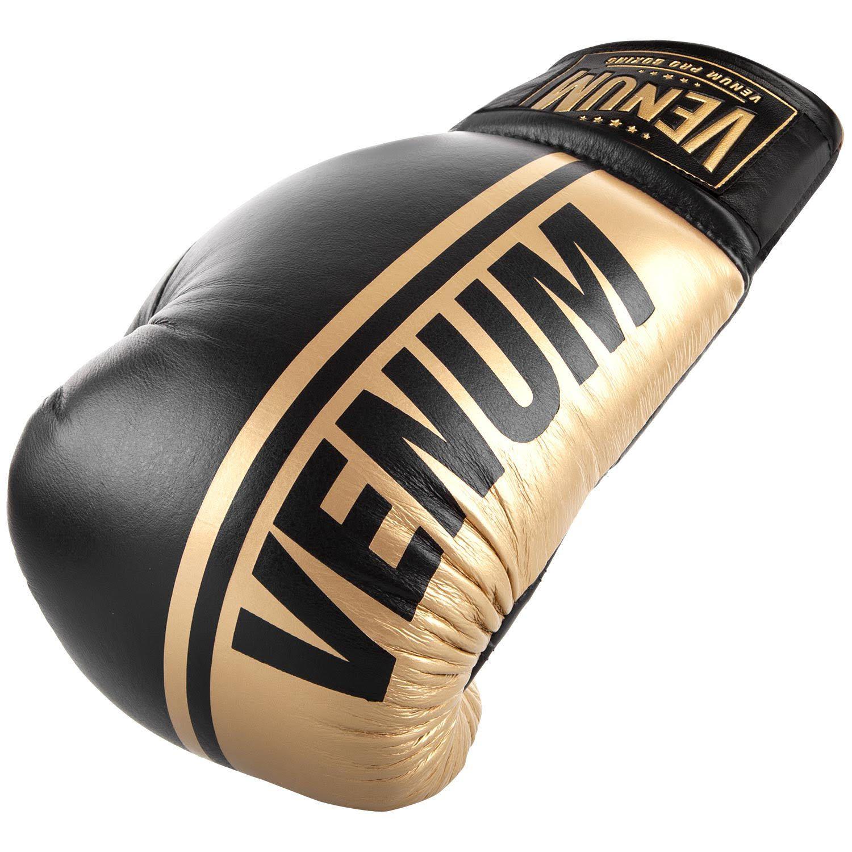 Боксерские перчатки Venum Shield Pro - Со шнуровкой - Черный/Золотистый - Black/Gold