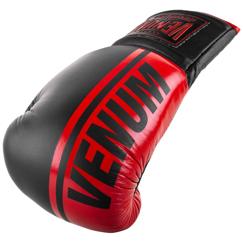 Боксерские перчатки Venum Shield Pro - Со шнуровкой - Черный/Красный - Black/Red