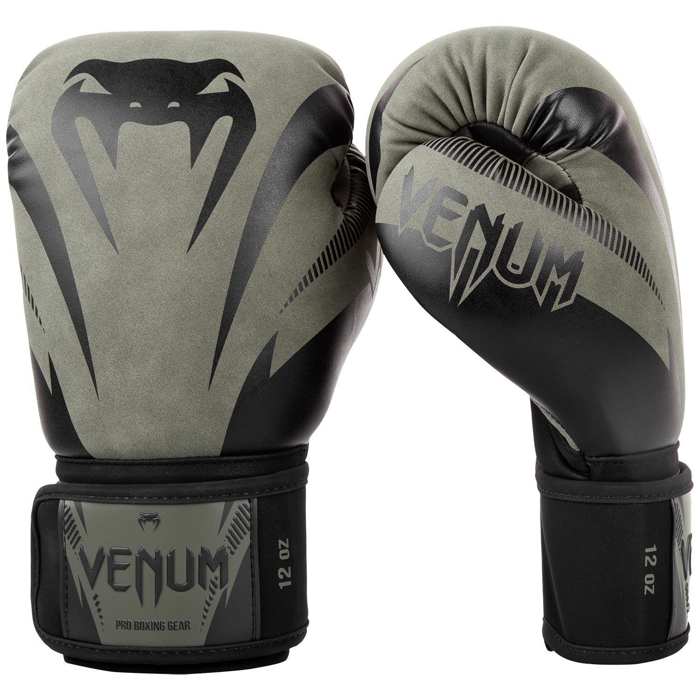 Venum Impact Boxing Gloves - Khaki/Black - Khaki/Black