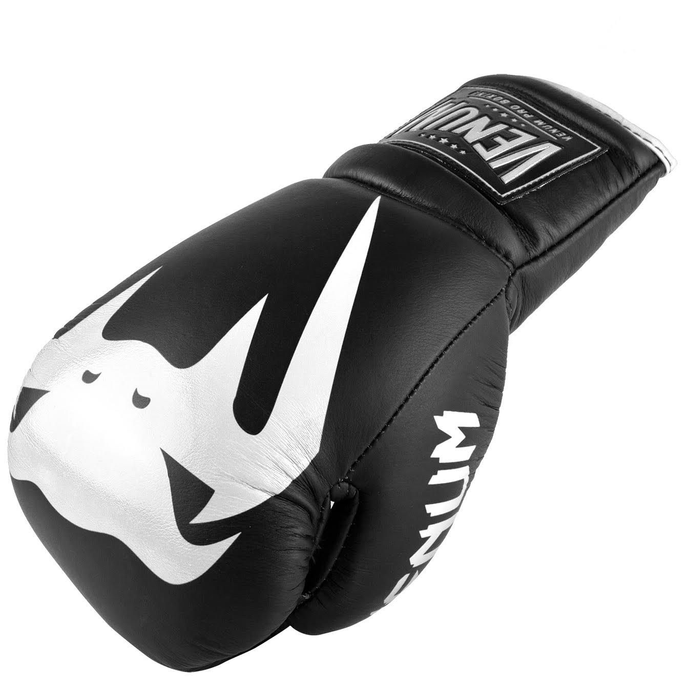 Venum Giant 2.0 Pro Boxing Gloves - With Laces - Black/White - Black/White