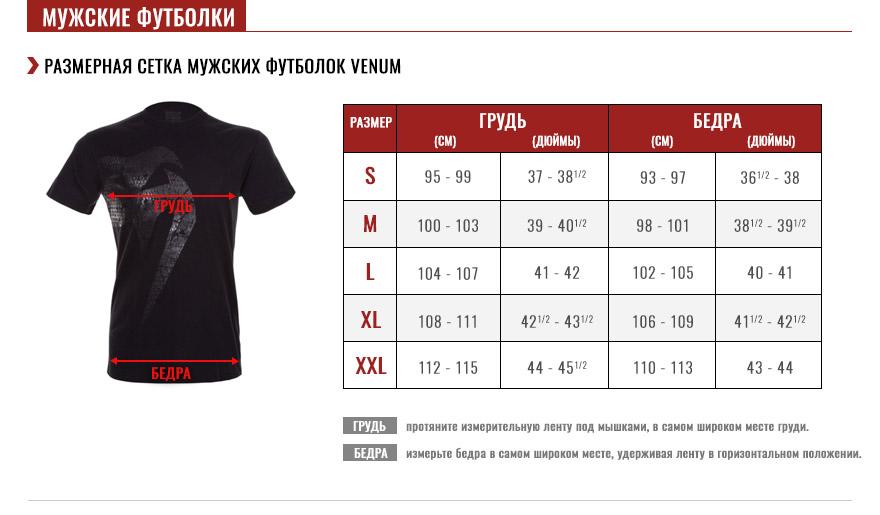 мужские футболки Pуководство по размеру